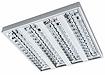 люминесцентные накладные светильники с зеркальной решеткой POLARIS T5