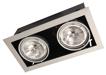 двойной карданный светильник черный PEGASUS 2x