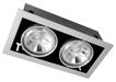 двойной карданный светильник черный PEGASUS LED 2x