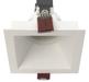 светодиодные квадратные встраиваемые светильники кососветы CRATER LED